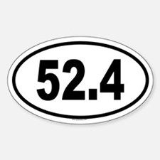 52.4 Oval Decal