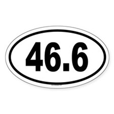 46.6 Oval Decal