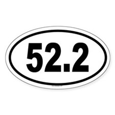 52.2 Oval Decal