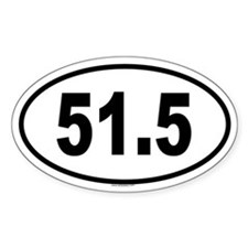51.5 Oval Decal