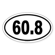 60.8 Oval Decal