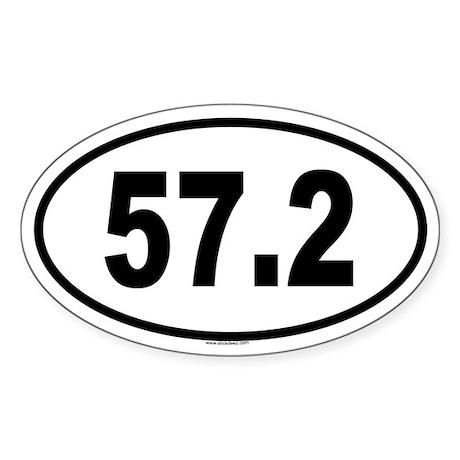 57.2 Oval Sticker