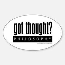 Got Thought? Oval Decal