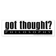 Got Thought? Bumper Bumper Sticker