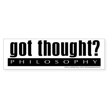 Got Thought? Bumper Sticker