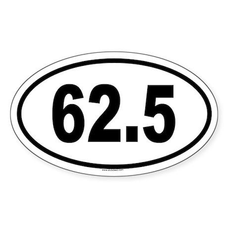 62.5 Oval Sticker