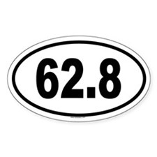 62.8 Oval Decal
