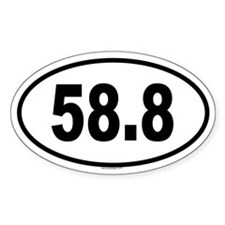 58.8 Oval Decal