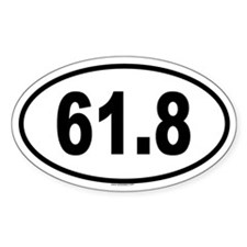 61.8 Oval Decal