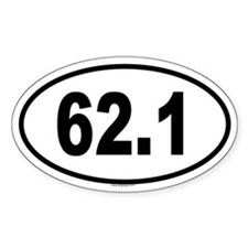 62.1 Oval Decal