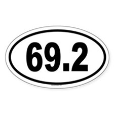 69.2 Oval Decal
