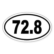 72.8 Oval Decal