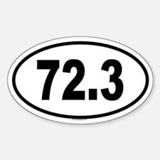 72.3 Oval Decal