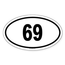 69 Oval Decal