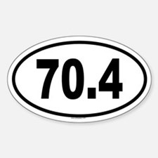 70.4 Oval Decal