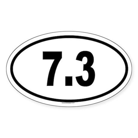 7.3 Oval Sticker
