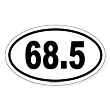 68.5 Oval Decal