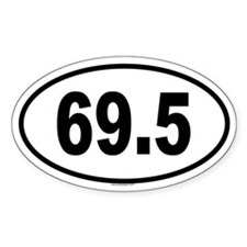 69.5 Oval Decal