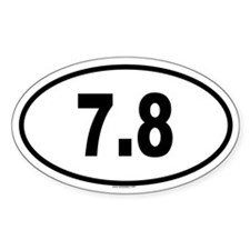 7.8 Oval Decal