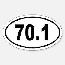 70.1 Oval Sticker (10 pk)