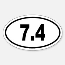 7.4 Oval Decal