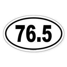 76.5 Oval Decal