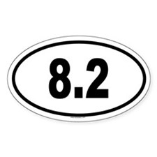8.2 Oval Decal