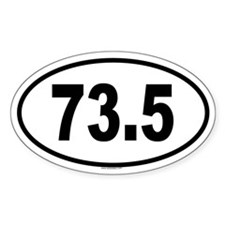 73.5 Oval Decal