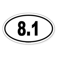 8.1 Oval Decal
