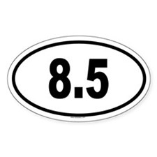 8.5 Oval Decal