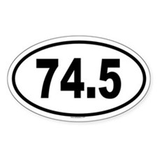 74.5 Oval Decal