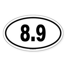 8.9 Oval Decal