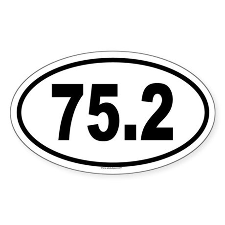 75.2 Oval Sticker