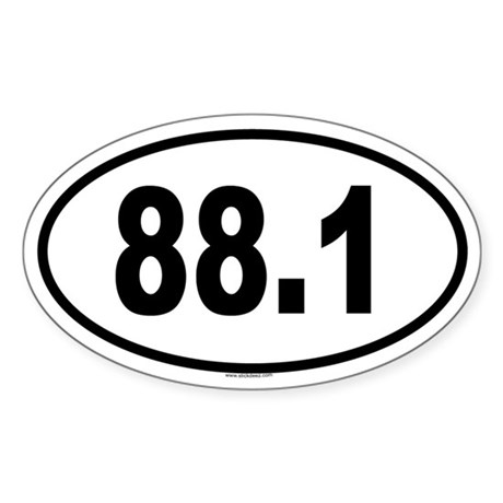 88.1 Oval Sticker