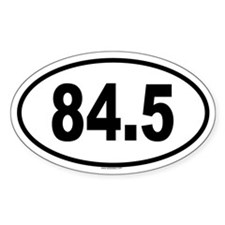 84.5 Oval Decal