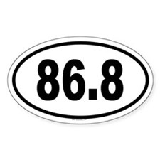 86.8 Oval Decal