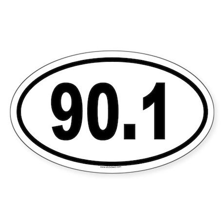 90.1 Oval Sticker