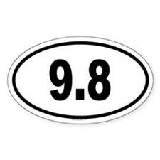 9.8 Oval Decal