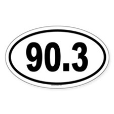 90.3 Oval Decal