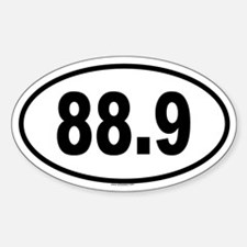 88.9 Oval Decal