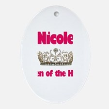 Nicole - Queen of the House Oval Ornament
