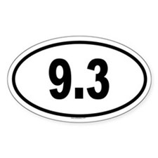 9.3 Oval Decal