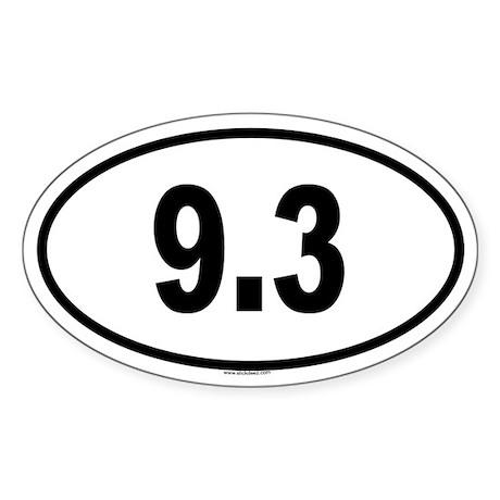 9.3 Oval Sticker