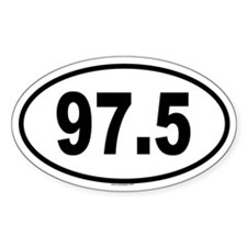 97.5 Oval Decal