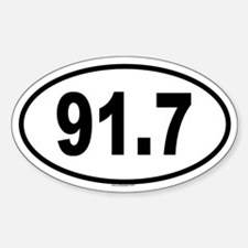 91.7 Oval Decal