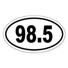 98.5 Oval Decal