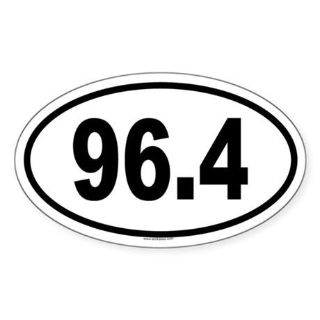 96.4 Oval Sticker