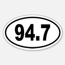 94.7 Oval Decal