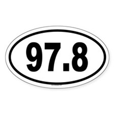 97.8 Oval Decal