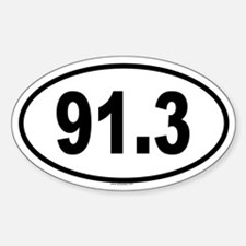 91.3 Oval Decal